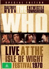 The WHO - Live At The Isle Of Wight Festival 1970 (DVD, 2009) New