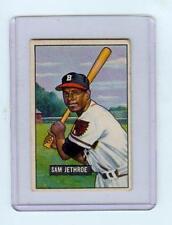 1951 BOWMAN BASEBALL #242 SAM JETHROE, BOSTON BRAVES