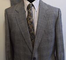 MS2756 NEXT MENS CHECKED GREY 2PC SUITS JACKET 44 TROUSERS W40  L28