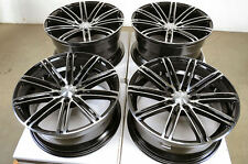 18 5x120 Black Staggered Effect Wheels Fits BMW 323 325 335 128 135 330 318 Rims