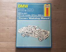 BMW 3-Series E21 316 320 320 I 4 cilindros de 1975 a 1977 manual de Haynes