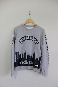 Adidas Originals x RUN DMC sweatshirt top S Grey Sweater Trefoil 2014