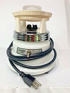 Vintage Waring Blender 51BL23 White MOTOR BASE & beige Top ONLY Works
