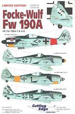 1:48 Focke-Wulf Fw-190A-7 A-8 #4 Cutting Edge Model Decals Sheet NOS CED48104
