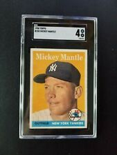 1958 Topps #150 SGC 4 Mickey Mantle Yankees Centered Front/Back! [like PSA 5?]