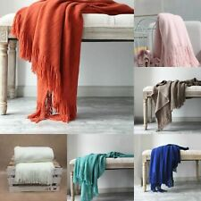 Knitted Plaid Bed Throw Blanket Soft And Warm Cashmere Cotton Sofa Cover Bedding