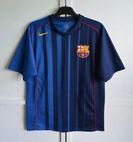 FC BARCELONA SPAIN 2004/2005 AWAY FOOTBALL SHIRT JERSEY CAMISETA KIT NIKE SIZE S