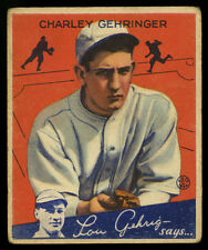 1934 R320 GOUDEY GOUDEY GUM COMPANY CO ~ #23 ~ CHARLEY GEHRINGER (PTS)
