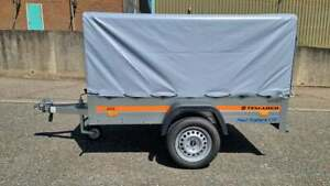 New Car Trailer Small Camping 6,7 FT x 3,6 FT 750 kg TOP COVER GREY