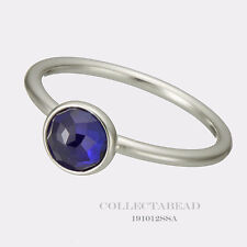 Authentic Pandora September Droplet Synthetic Sapphire Ring Size (50) 191012SSA