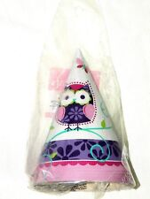 OWL PAL BIRTHDAY -8- PAPER PARTY HATS -  PARTY SUPPLIES