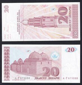 Macedonia 20 denari 1993 FDS-/UNC-  C-05