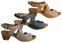 Brand New Orizonte Kirsty Womens European Comfortable Leather Mid Heel Sandals