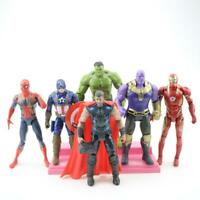 Avengers Action Figures Toy Set 6 Pcs Hero - IronMan Hulk Spiderman Thanos Thor