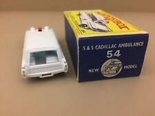 Vintage Matchbox Lesney / #54 S&S Cadillac Ambulance w/ Original Box / 1965