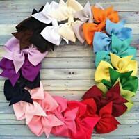 20x Mädchen Baby Ribbon Haarspange Haarklammer Haarschleife Haar Random Dek V5C9