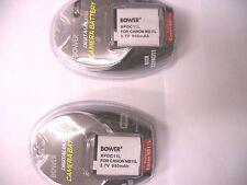 2 Batteries NB-11L NB11L for Canon A2300 A2400 A3400 A4000 A4050 ELPH 110 320 HS