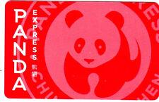 Panda Express Gourmet Chinese Restaurant Gift Card Collectible ---0---BALANCE