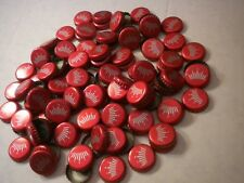 105 RED CROWN ONLY BUD NO LOGO BUDWEISER BEER BOTTLE CAPS X-MAS CRAFTS JEWELRY