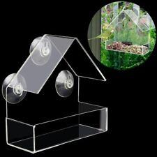 Creative Transparent Bird Feeder Top Grade High Quality Clear Window Pet Feeders