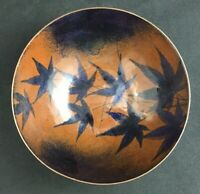 """🔷 Mid Century Enamel Copper 6 1/4"""" Bowl Marjorie Gehner - Artist Signed"""