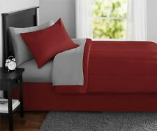 Red Twin Full Or Queen Size Comforter Set Bedspread Bed in a Bag Bedding Sheets