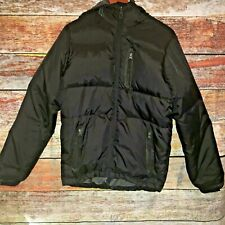 American Eagle Size XS Puffer Jacket Black Hooded Down Insulated Extra Small