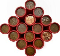 💲 50 PENNIES PER ROLL 💲 LINCOLN WHEAT PENNIES 💲VERY OLD SCARCE MIXED DATES 💲