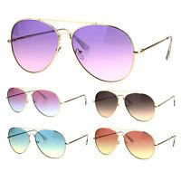 Oceanic Color Gradient Lens Oversize Retro Pilot Sunglasses