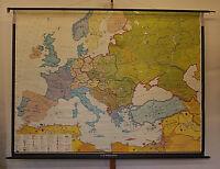 Wandkarte Europakarte 1945-1970 BRD~DDR 245x187 1970 Cold War NATO Ostblock map
