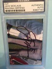 Jack Nicklaus Autographed Cut (PSA)