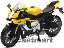 NEWRAY 1:12 2015 YAMAHA YZF R1 DIECAST MOTORCYCLE YELLOW 57803B NEW IN BOX