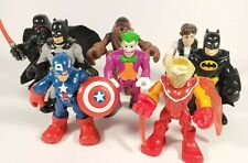 Playskool imaginext Figures Starwars, Marvel, and, Batman Figure Lot of Eight