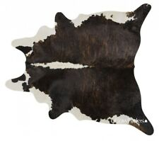 Brindle White Belly & Backbone Brazilian Cowhide Cow Hide Area Rugs Size Large