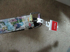 Relic 1.5'' wide holographic belt Peace Size  Large (36) NWT