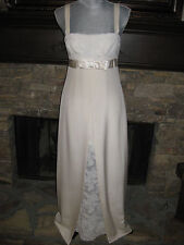 HENRI BENDEL FANCY NEW YORK VINTAGE LONG FORMAL SILK DRESS WEDDING GOWN SIZE 6