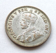 BRITISH EAST AFRICA 1 SHILLING 1924, GEORGE V, .250 SILVER, LION RIGHT. KM//21