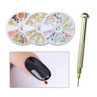 Charms Studs Silver&Gold Dangle Nail Art  3D Decoration in Wheel/Drill