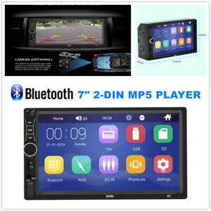 HD Car Stereo Radio MP5 Player Touch Screen w/Bluetooth 2 Din in Dash Head Unit