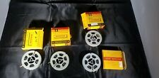 Vintage Lot of 4 Kodak Kodachrome Film Double 8MM M 25-Feet With Spool & Film