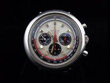 Colorful 1970's T12 Tissot chronograph watch in stainless steel