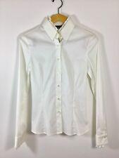 AKRIS White Striped Button Down Blouse Size 4