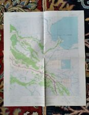 1963 Cut Off Louisiana Photo Engineer Geology Survey Map Parish Creole Dulac Bay