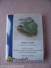 MOUSELOFT STITCHLETS CROSS STITCH KIT ~ STEAM TRAIN ~ NEW