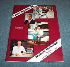 Texas A&M vs Southern Mississippi Game Program Magazine 1986 Kip Corrington