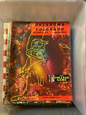 1972 Oklahoma sooners Colorado Buffaloes Football Program Norman  OU Boulder