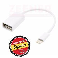 Cable adaptador datos OTG USB a Lightning 8 Pines [ Apple - iPhone - iPad ]
