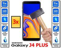 3x Genuine 100% TEMPERED GLASS HD Screen Protector Samsung Galaxy J4 PLUS J4+