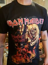 "Iron maiden ""number of  the beast"" t shirt size L"