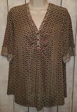Womens Stretchy Slinky Blouse Top Shirt Size 1X Citiknits
